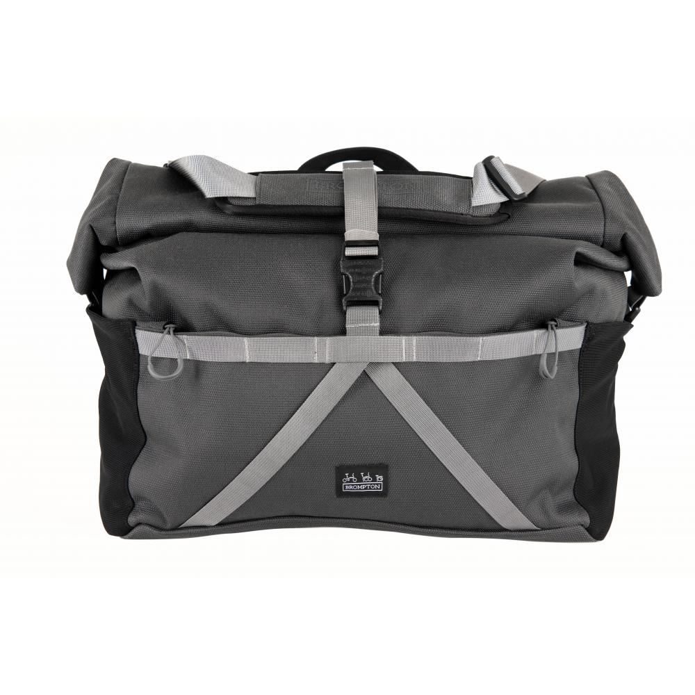 Brompton Borough Roll Top Bag Large in Dark Grey
