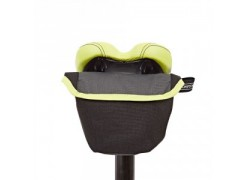 Brompton Saddle Pouch (zadeltas) Zwart / Lime Green